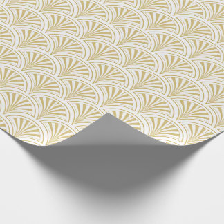 Gold and White Deco Fans Pattern