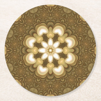 Gold and White Flower Coasters