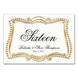 Gold and White Ornate Elegance Wedding Collection Card