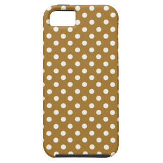 Gold and White Polka Dot iPhone 5S Vibe Case