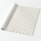 Gold and White Polka Dots Wrapping Paper