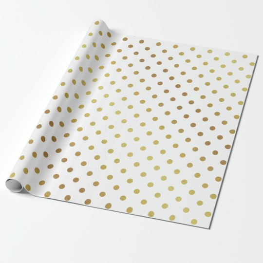 gold and white polka dots wrapping paper. Black Bedroom Furniture Sets. Home Design Ideas