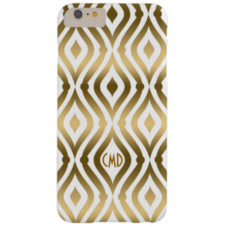 Gold And White Quatrefoil Geometric Pattern Barely There iPhone 6 Plus Case