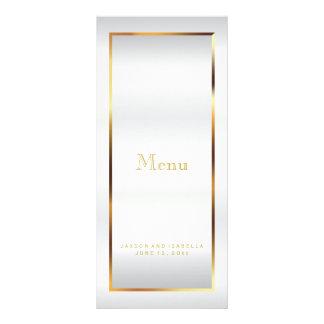 Gold and White Satin - Menu
