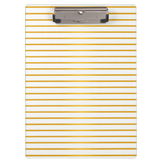 Gold and White Striped Pattern Clipboards