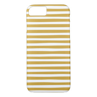 gold and white stripes Case-Mate iPhone case