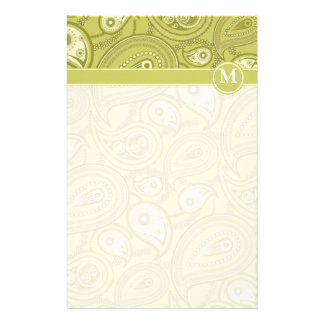 Gold and Yellow Paisley Stationery Paper