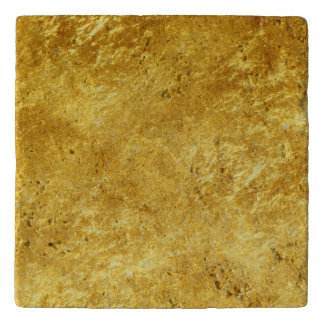 Gold and yellow plated marble pattern trivet