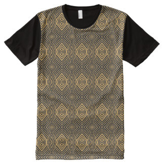 Gold Animal Pattern#48e American Apparel Buy Sale All-Over-Print T-Shirt