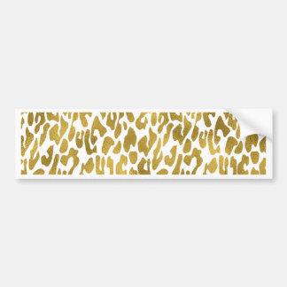 Gold Animal Print Bumper Sticker