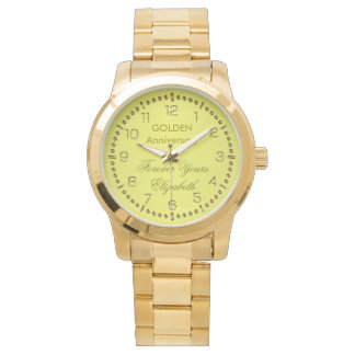 Gold Anniversary Monogram Watch