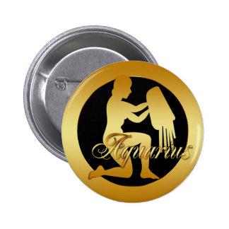 GOLD AQUARIUS ZODIAC SIGN PIN
