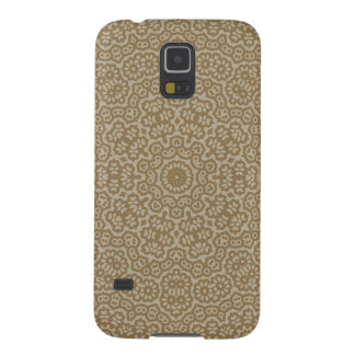 Gold arabian lace flower pattern galaxy s5 cases