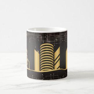 Gold Architecture Coffee Mug