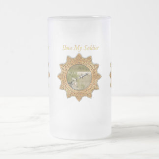 Gold Army anti tank guided missile Frosted Glass Beer Mug