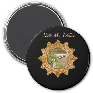 Gold Army anti tank guided missile Magnet