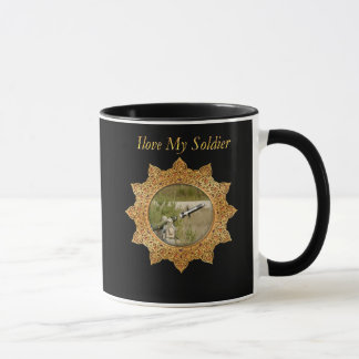 Gold Army anti tank guided missile Mug