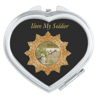 Gold Army anti tank guided missile Travel Mirrors