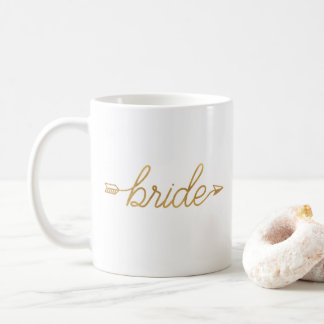 Gold Arrow Bride Mug