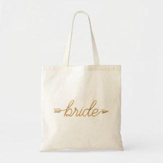 Gold Arrow Bride Tote Bag