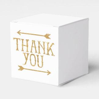 Gold Arrows Thank You Customizable Favor Box