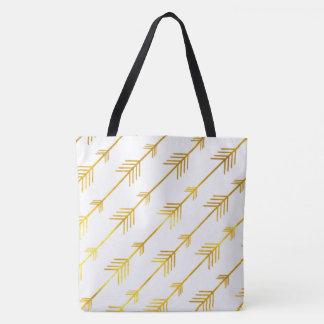 Gold Arrows Tote Bag
