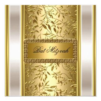 Gold Art Deco Bat Mitzvah  Invitation