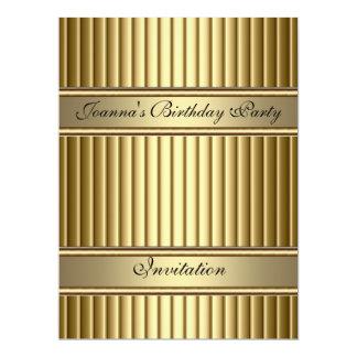 Gold Art Deco Birthday Party Invitation Gold