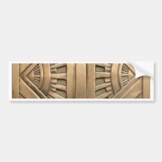 gold, art nouveau,art deco,vintage,chic,elegant bumper sticker