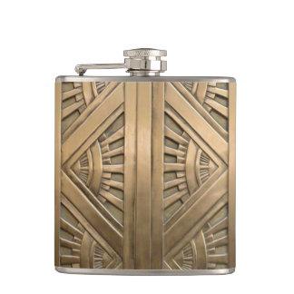 gold, art nouveau,art deco,vintage,chic,elegant,vi flask