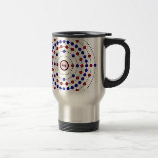 Gold Atom Travel Mug