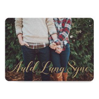 Gold Auld Lang Syne Card