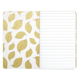 GOLD AUTUMN LEAVES - Pocket journal
