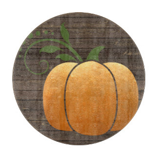 Gold Autumn Rustic Wood Pumpkin Boards