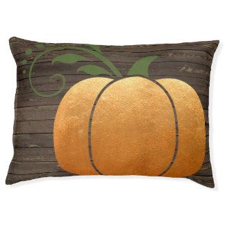 Gold Autumn Rustic Wood Pumpkin Pet Bed