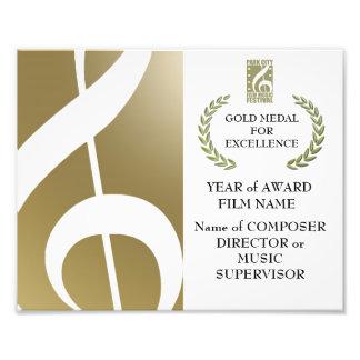 Gold Award Certificate Photo Print