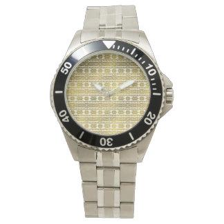 Gold  Aztec Peruvian Tribal Pattern Watch