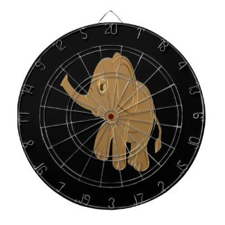 Gold baby elephant looking into the sky dartboard