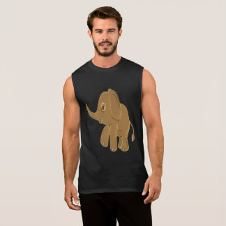 Gold baby elephant looking into the sky sleeveless shirt