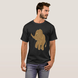Gold baby elephant looking into the sky T-Shirt