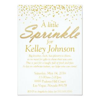 Gold Baby Sprinkle Shower Invite