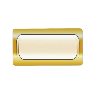 Gold Background Blank Address Labels