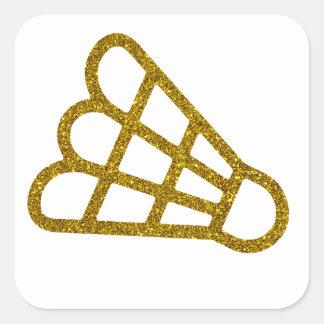 Gold Badminton Sticker