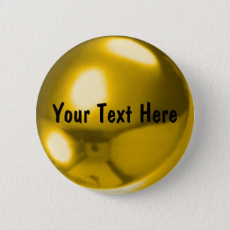 Gold ball customizable 2 inch round button