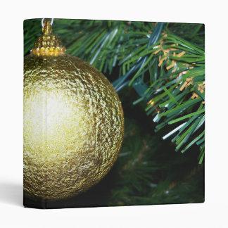 Gold Ball Ornament Binder