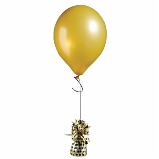 Gold Balloon Ornament Cut Out