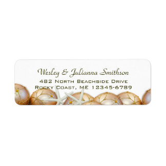 Gold Balls and Starfish Return Address Template