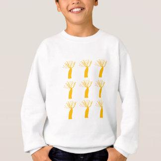 Gold Baobabs on white Sweatshirt