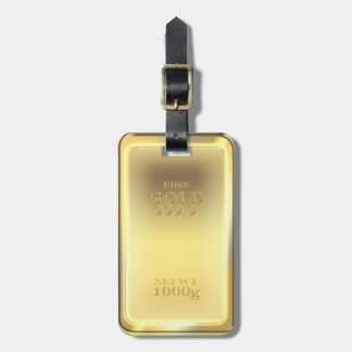 Gold bar design, looks so real! luggage tag