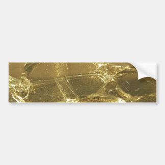 gold bar golden lights chic festive gold bumper sticker